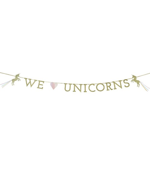 "Girlande ""Einhorn Pastell"" - We love Unicorns - 3m"