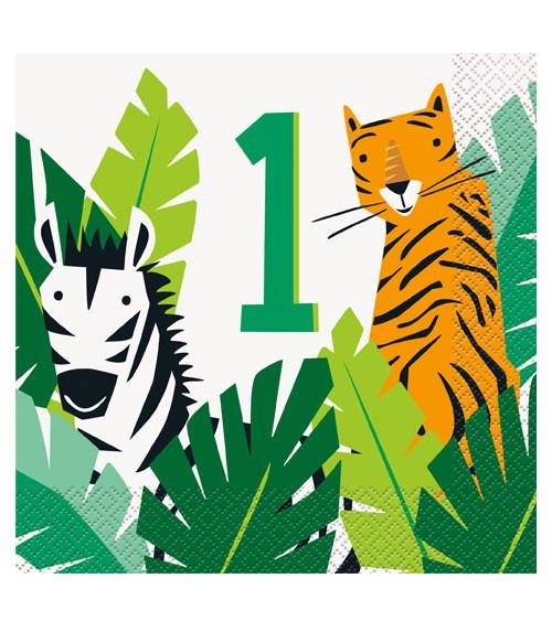 "Servietten ""Animal Safari"" - 1. Geburtstag - 16 Stück"