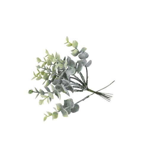 Künstliche Eukalyptuszweige - 17 cm - 10 Stück