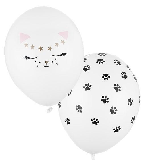 "Luftballon-Set ""Katze"" - weiß - 50 Stück"