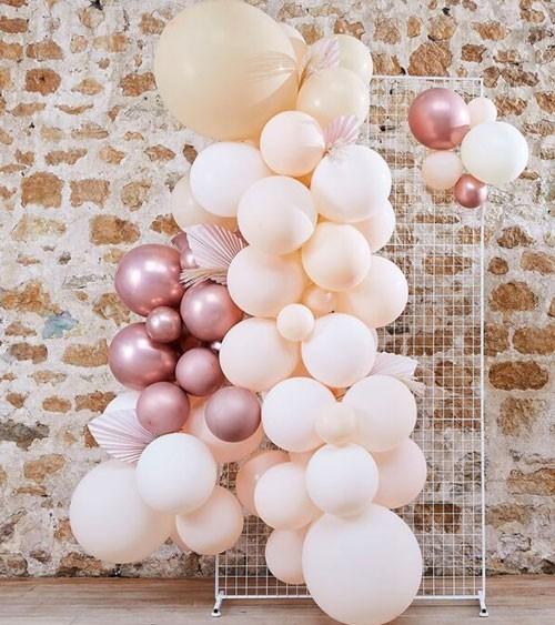 DIY Ballongirlande mit Pampasgras & Blattfächern - 81-teilig