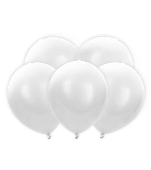 LED-Luftballons - weiß - 30 cm - 5 Stück