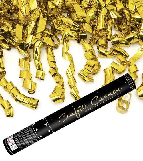 """Konfetti-Kanone """"Streamers"""" - gold - 40 cm"""