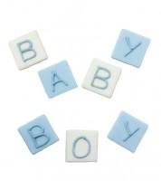 "Zuckerdekor ""BABY BOY"" - 7 Stück"