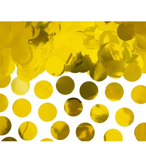 Konfetti-Kreise - metallic gold - 15 g