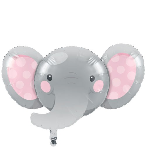 "Shape-Folienballon ""Little Elephant - Girl"" - 93 x 62 cm"