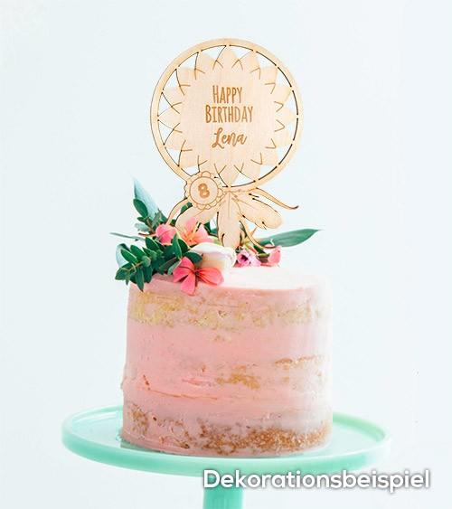 """Dein Cake-Topper """"Boho"""" aus Holz - Wunschtext"""