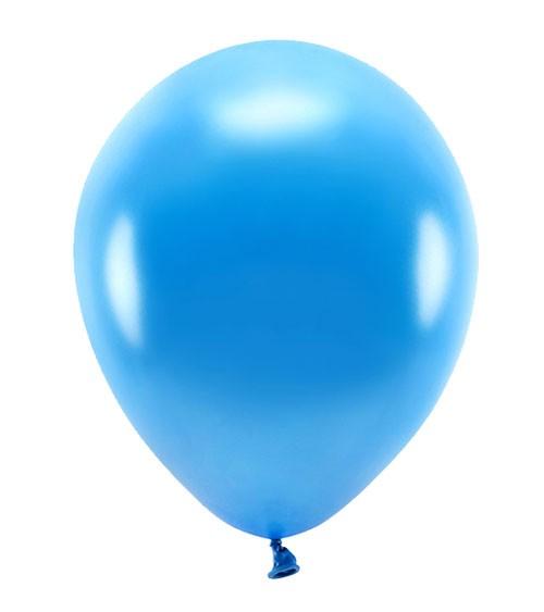 Metallic-Ballons - blau - 30 cm - 10 Stück