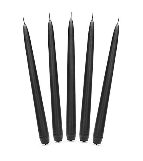 Dinnerkerzen - schwarz - 24 cm - 10 Stück