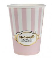 "Pappbecher ""Mademoiselle"" - rosa - 10 Stück"