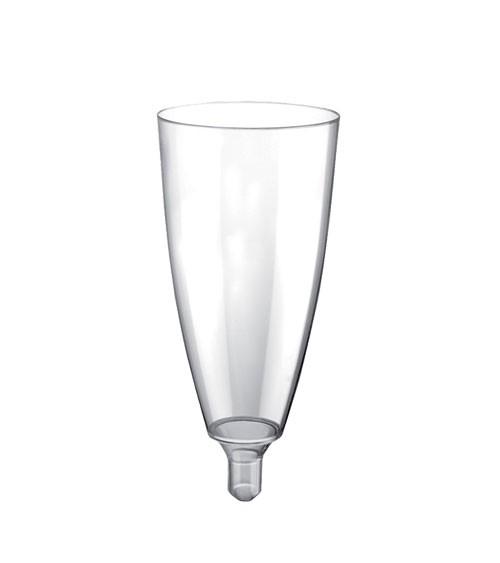 "Sektkelche aus Kunststoff ""Mix it!"" - transparent - 120 ml - 20 Stück"