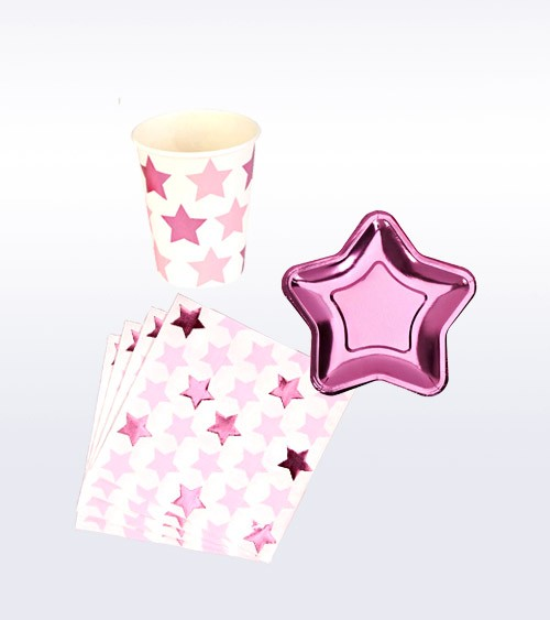 "Deko-Set ""Little Star Pink"" - 32-teilig"