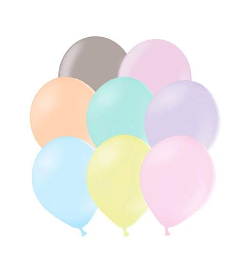 Mini-Luftballons - Pastell Mix - 12 cm - 100 Stück