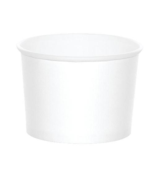 Eisbecher - weiß - 6 Stück