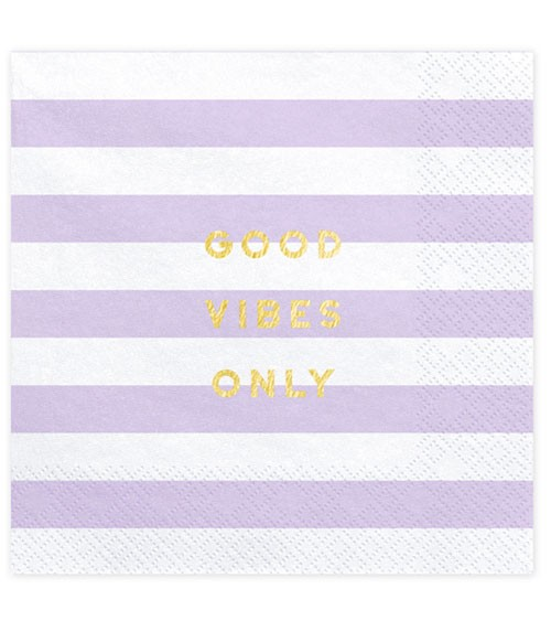 "Servietten ""Good Vibes Only"" - lavendel - 20 Stück"