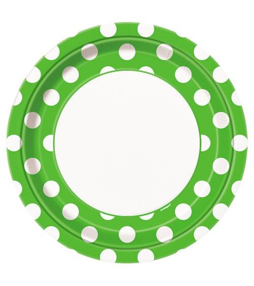 """Pappteller """"Big Dots"""" - hellgrün - 8 Stück"""