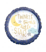 "Runder Folienballon ""Twinkle twinkle little Star"" - 43 cm"
