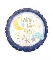 """Runder Folienballon """"Twinkle twinkle little Star"""" - 43 cm"""