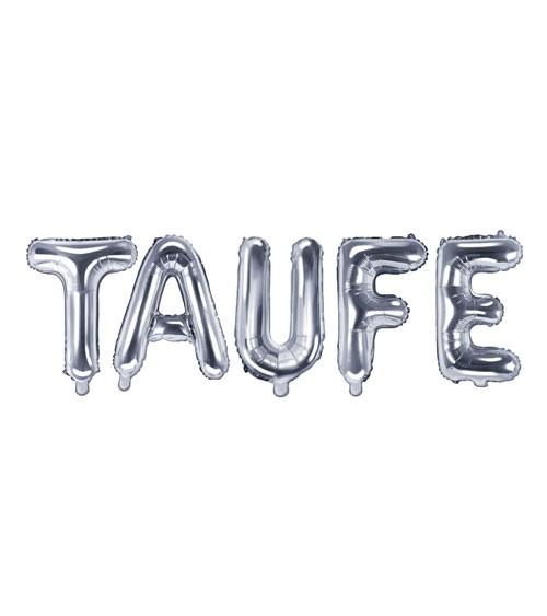 "Folienballon-Set ""Taufe"" - silber"