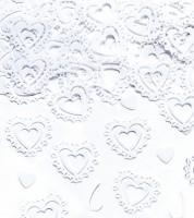 """Streukonfetti """"Weiße Herzen"""" - 15 g"""