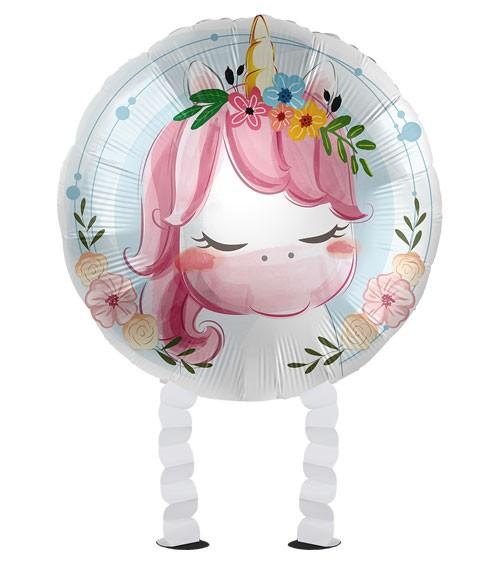 "Walking-Folienballon ""Cute Unicorn"""