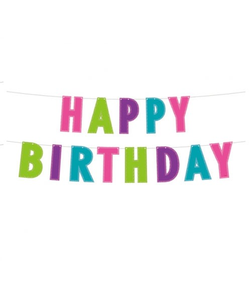 "DIY Glitter-Girlande ""Happy Birthday"" - 2 m"