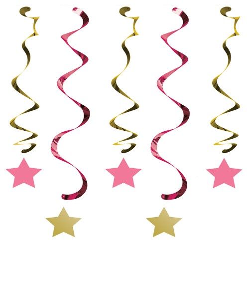 "Spiralgirlanden ""One Little Star - Girl"" - 5 Stück"