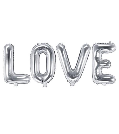 """Folienballon-Set """"Love"""" - silber - 140 x 35 cm"""