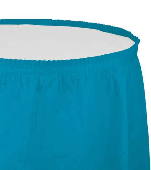 Tischverkleidung - türkisblau - 4,26 m