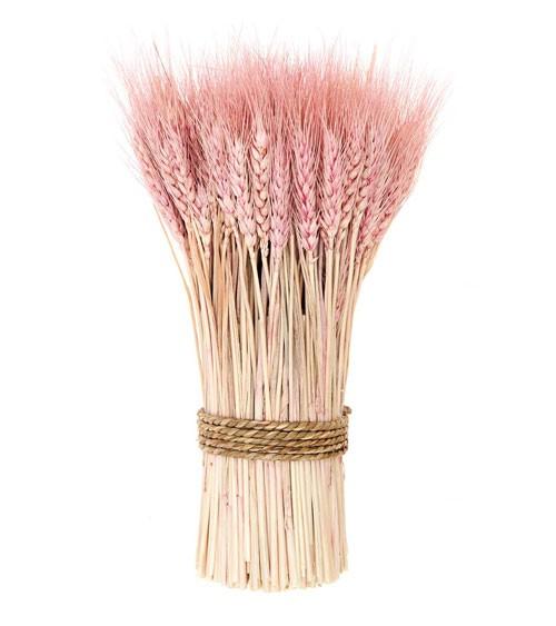 Weizenbund zum Aufstellen - pink - 30 cm