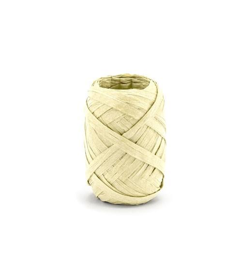 Bast-Band - creme - 5 mm x 10 m