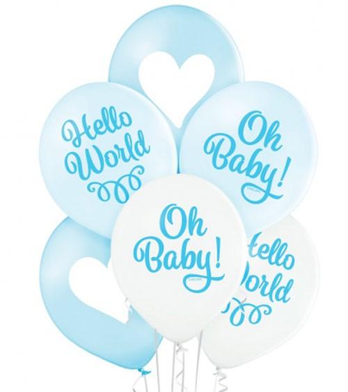 "Luftballon-Set ""Oh Baby Boy"" - 6-teilig"