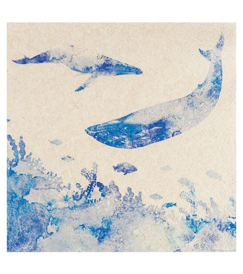 """Servietten """"Whales"""" - 20 Stück"""