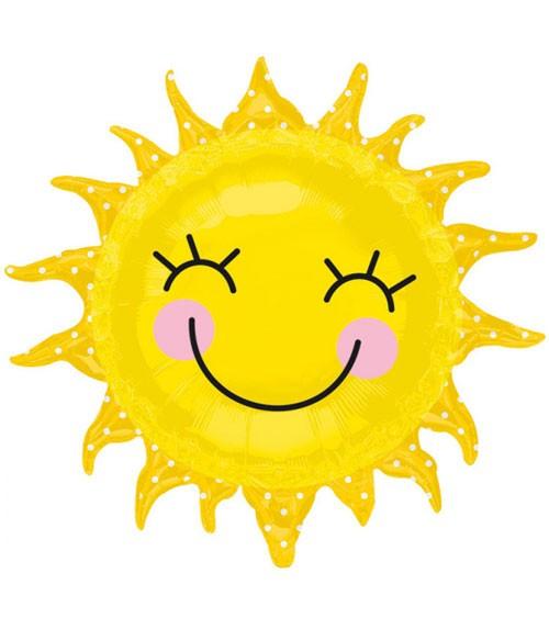 "Supershape-Folienballon ""Lächelnde Sonne"" - 74 x 71 cm"