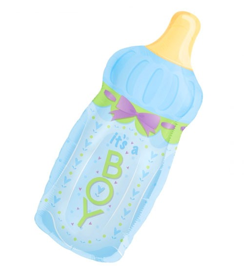 "SuperShape-Folienballon ""Babyflasche It's a Boy"""