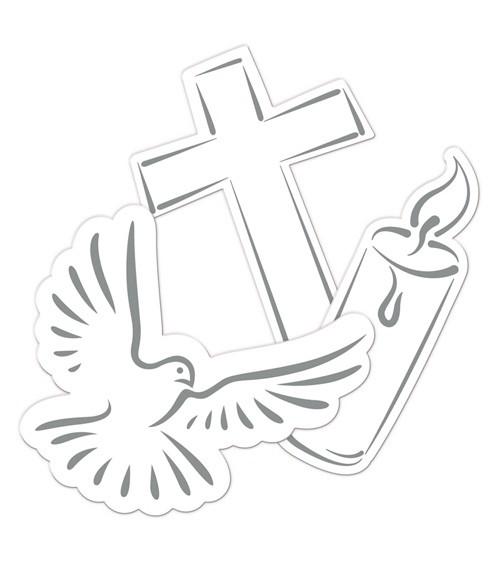 """XXL-Konfetti """"Taube, Kreuz, Kerze"""" - 24 Stück"""