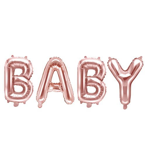 "Folienballon-Set ""BABY"" - rosegold - 35 cm"
