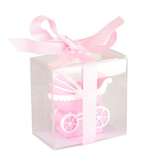 "Kerze ""Kinderwagen"" - rosa"