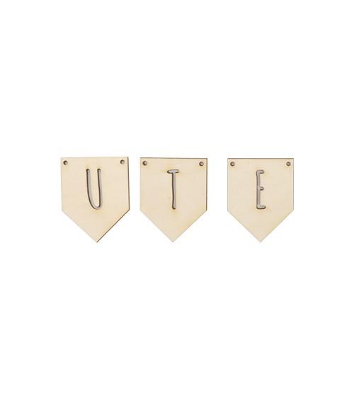 Deine Fünfeck-Wimpel mit Wunschtext - bis 5 Stück