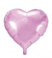 Herz-Folienballon - rosa - 61 cm