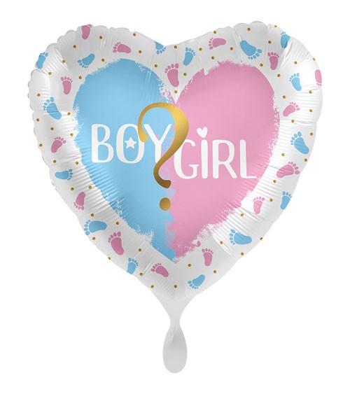 "Herz-Folienballon ""Gender Party"""