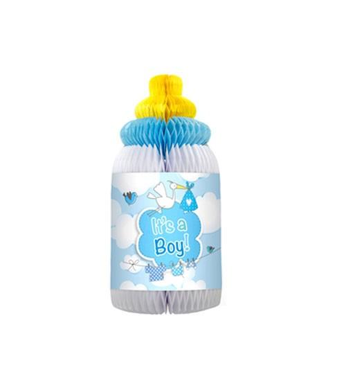 """Wabenaufsteller """"Babyflasche"""" - It's a Boy"""