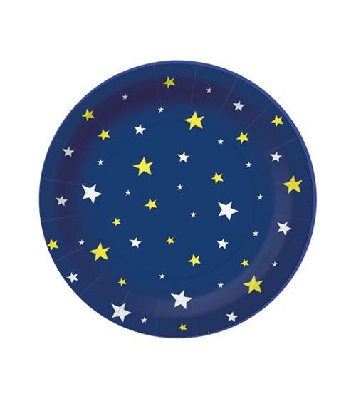 """Kleine Pappteller """"Starlit Sky"""" - dunkelblau - 10 Stück"""