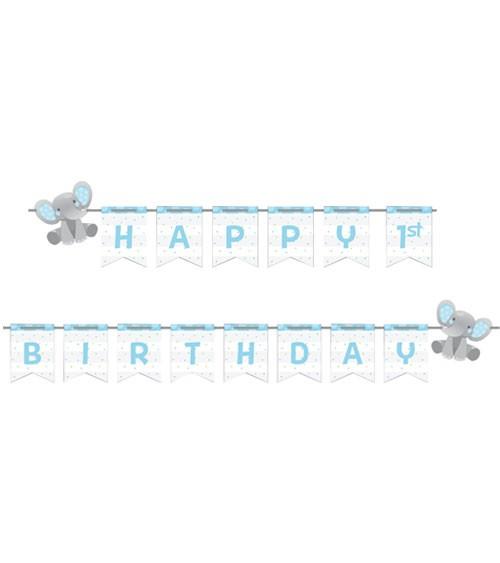 "Happy Birthday-Girlande ""Little Elephant - Boy"" - 2,5 m"