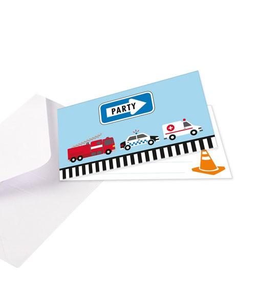 """Einladungskarten """"On the Road"""" - 8 Stück"""