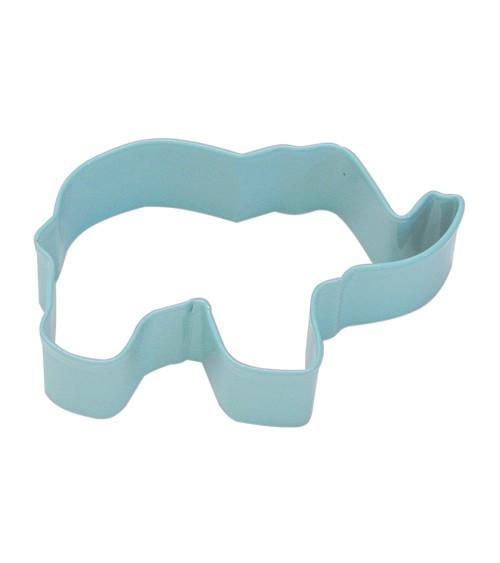 Ausstechform Elefant - pastellblau - 8,9 cm