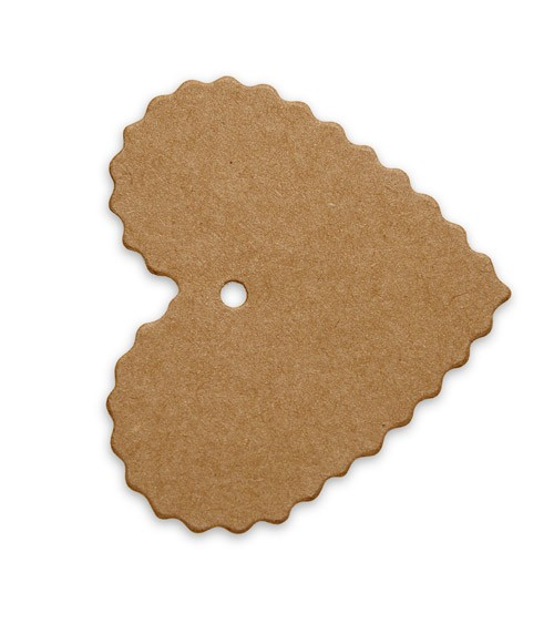 Herz-Geschenkanhänger - Kraftpapier - 10 Stück