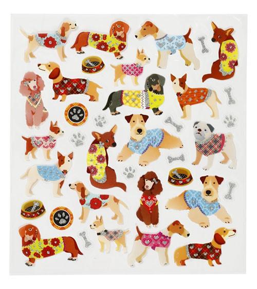 """Sticker """"Hunde"""" - mit Glitter - 1 Bogen"""