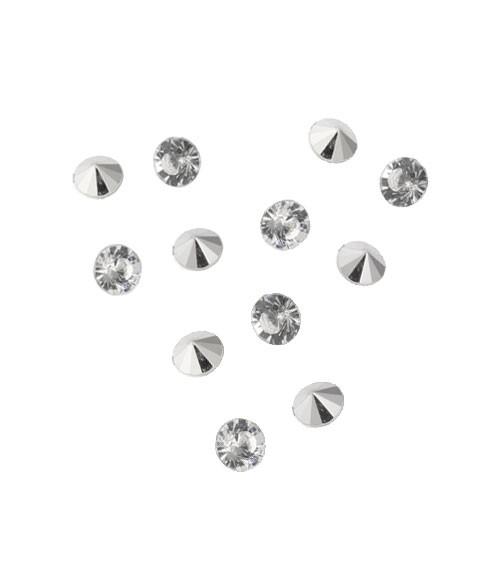 Diamanten-Streuteile in Herzbox - 10 mm - 120 Stück
