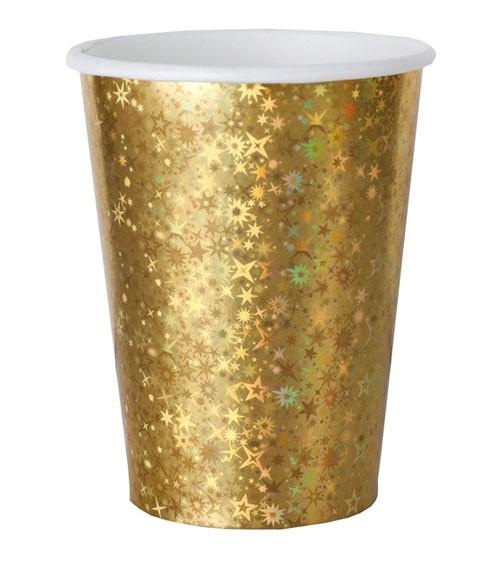"""Pappbecher """"Sparkling"""" - gold - 10 Stück"""